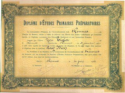 Diplome_d'etudes_primaires_preparatoires_-_1942_-_Rennes