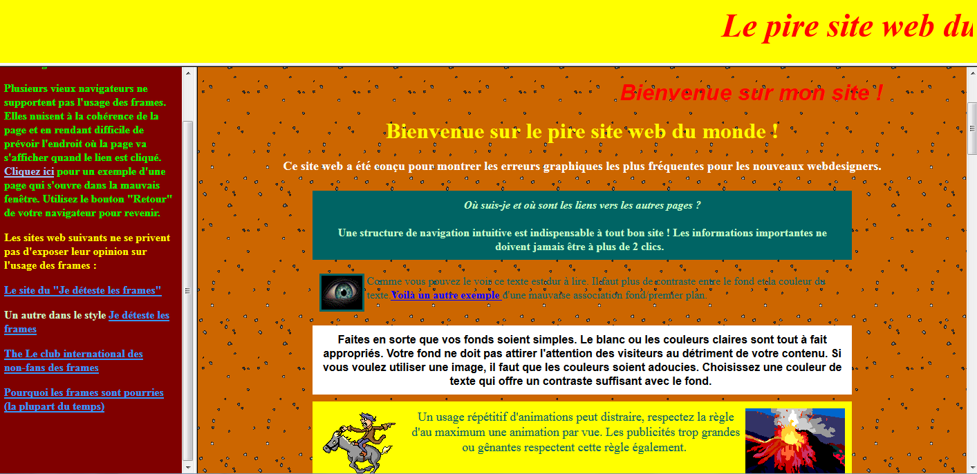 pire sites web du monde
