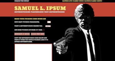 Pulp fiction ipsum