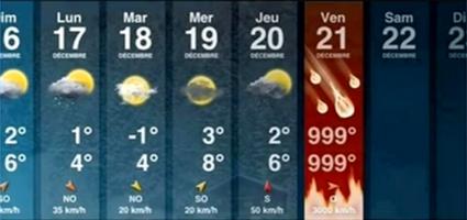 La météo apocalyptique d'Apple