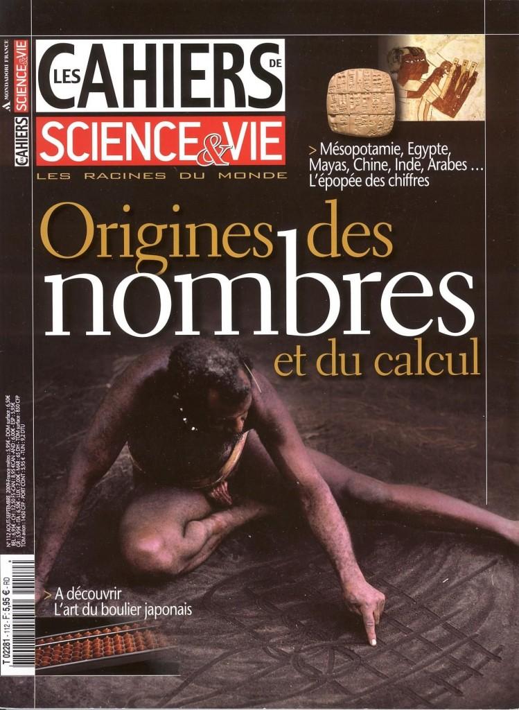 Internet Cahiers Science & Vie 112 Origine des nombres