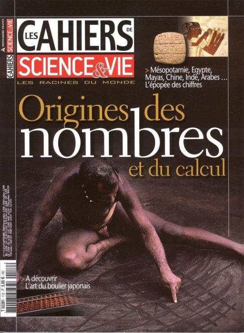 Cahiers Science & Vie 112 Origine des nombres