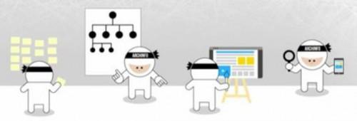 Les ninjas de l'info, mascottes du Mooc #ArchInfo