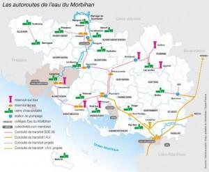 Guerlédan, autoroutes de l'eau du Morbihan