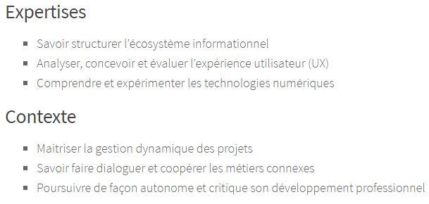 Six Competences Architecte - Savoir structurer l'écosystème informationnel
