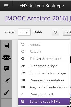 Booktype Editer Html