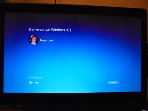 Bienvenue sur Windows 10