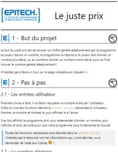 Instructions pour le jeu en Python