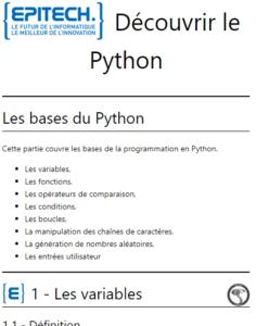 bases du Python