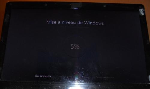 Windows 10 Mise à niveau en cours