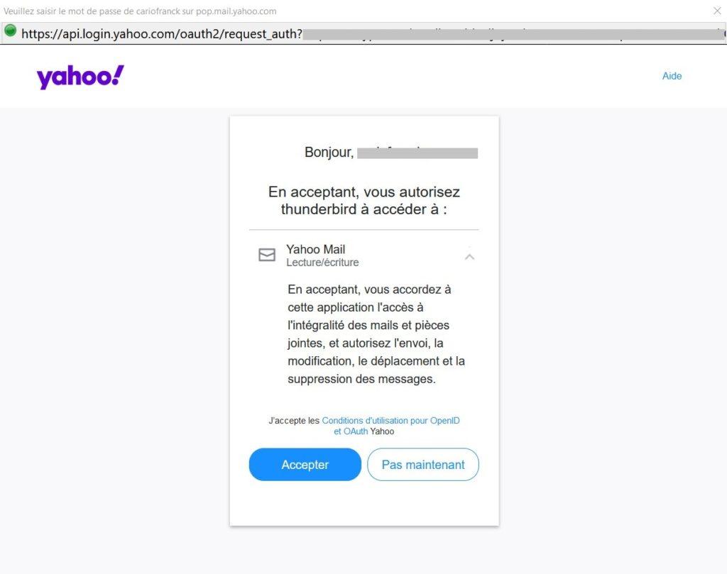 Yahoo OAuth2 Authentification