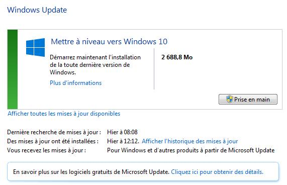 Windows10 insiste