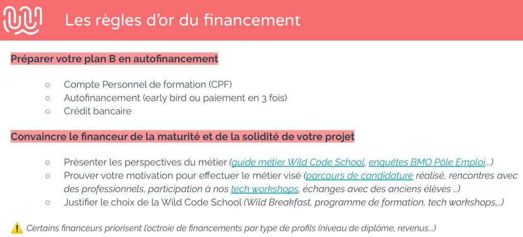 Wild_Code_School - Financement