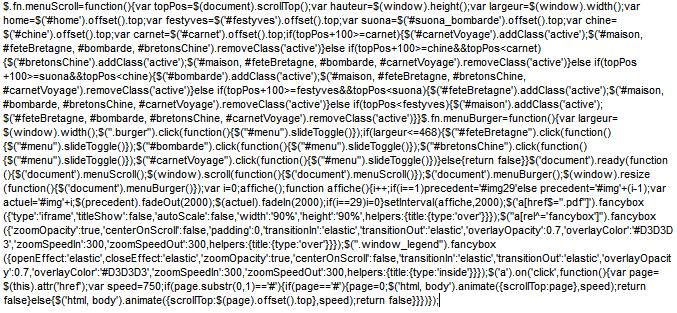 mettre en ligne - javascript minifié